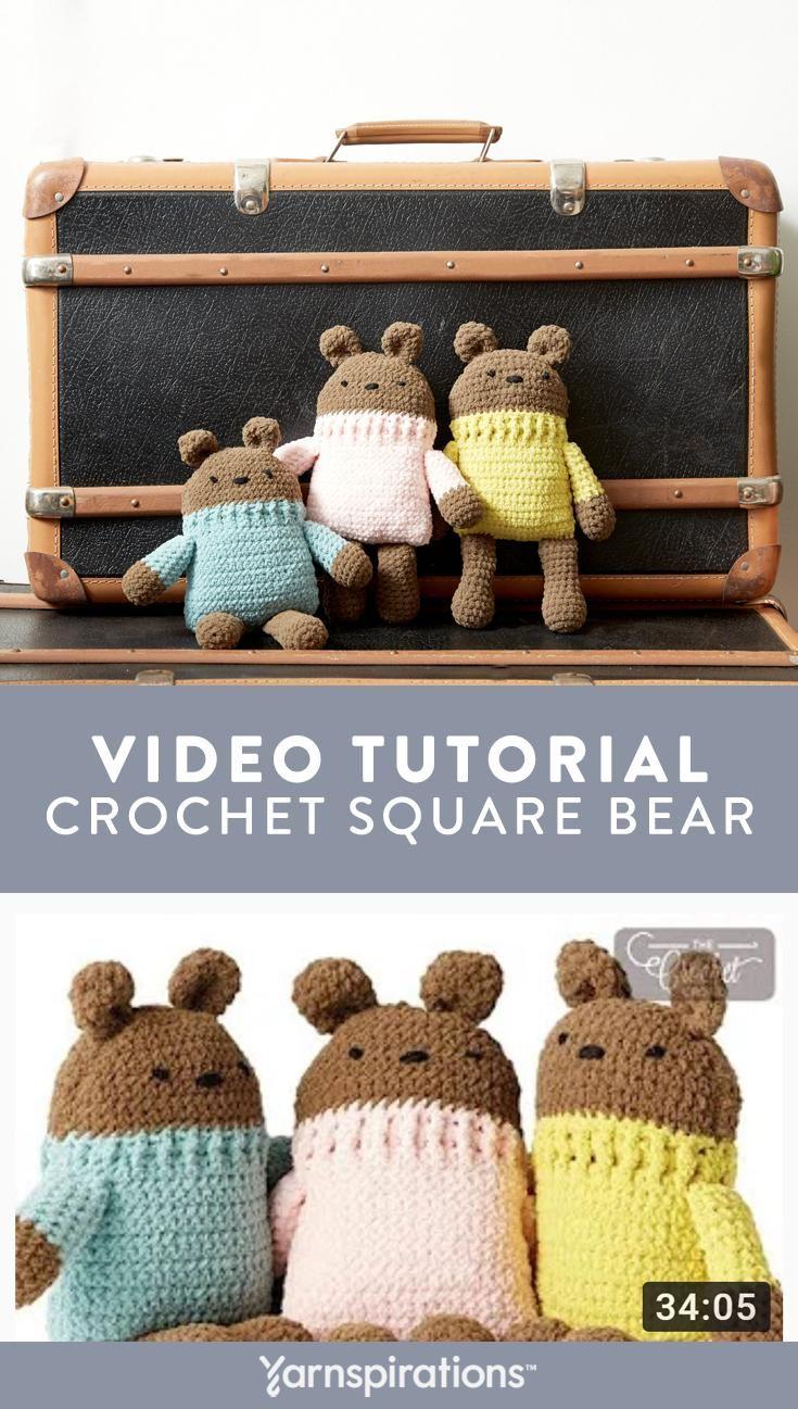 Free Crochet Bear Stuffie Pattern | Watch our video tutorial to