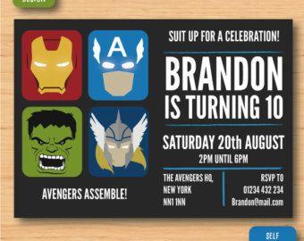 Best Vengadores Images On Pinterest Boxes Superhero Party - Avengers birthday invitation wording