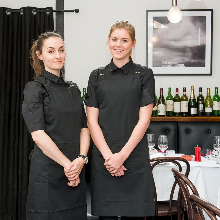 Mister Bianco Restaurant, Kew, Australia | Waiters Uniforms by Cargo Crew | Crew wears Deluxe Canvas Aprons and Campbell Shirts in Black | The Modern Uniform