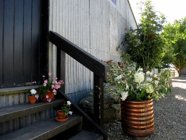 The steps up to The Woolshed.
