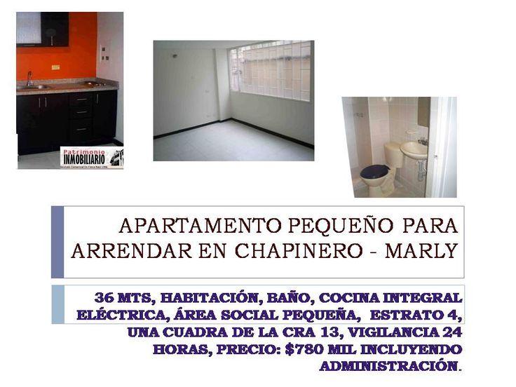 APARTAMENTO PEQUEÑO PARA ARRENDAR EN MARLY - CHAPINERO