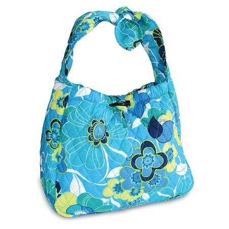Be Of Good Cheer Hobo Purse - Blue Blossom
