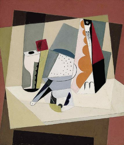 Blanchard, Maria (1881-1932) - 1917-21 Cubist Still Life (Telefónica Foundation Collections, Madrid, Spain)