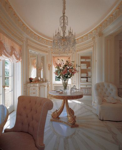 "A glamorous dressing room designed by Bunny Williams, as shown in her book ""Point of View"""
