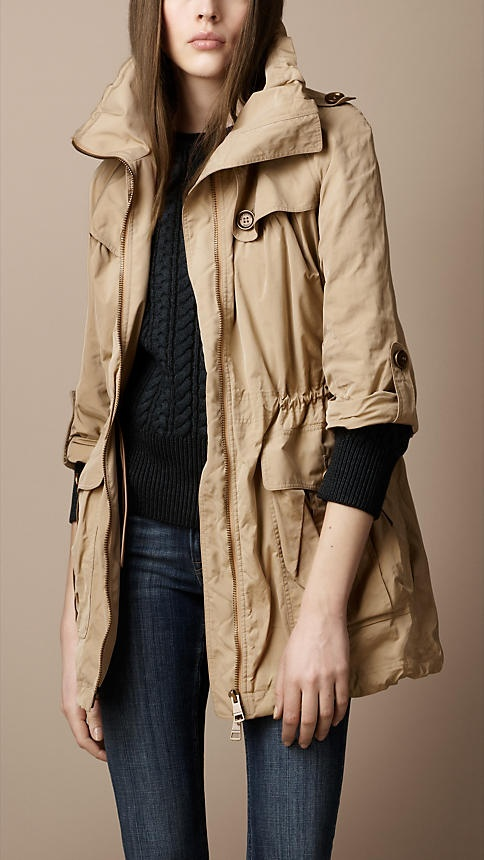 Burberry Brit Technical Fabric Parka // oh my goodness, i need this. stat.
