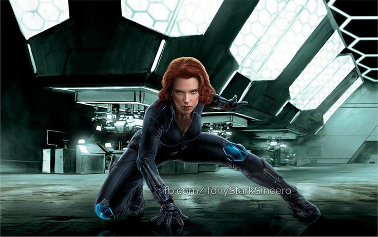 Promo Art : Avengers: l'Ère d'Ultron (Black Widow accroupie)