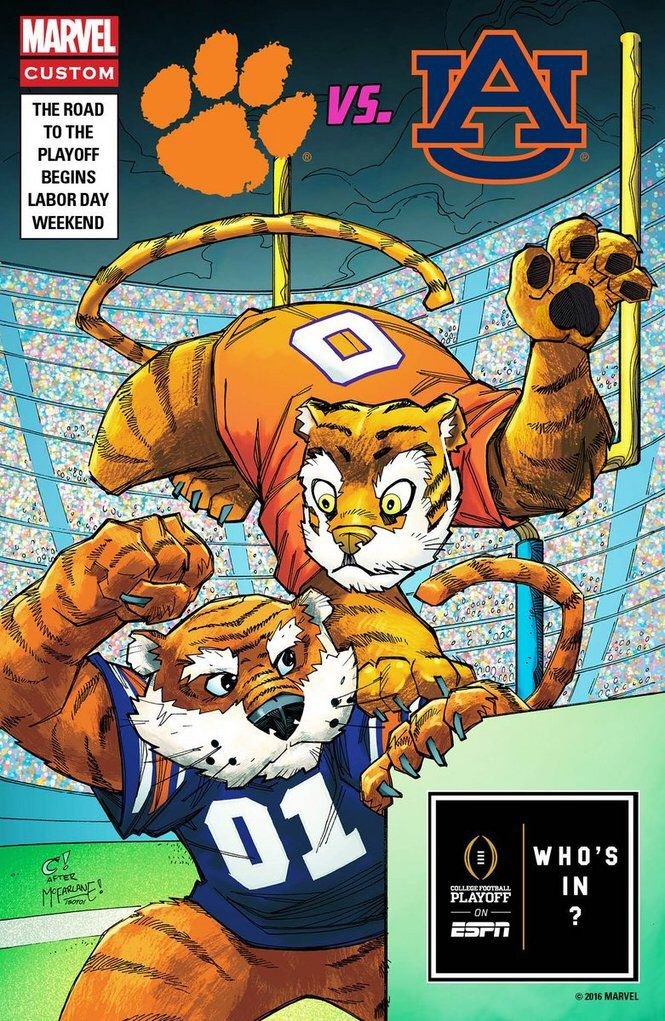 Marvel draws comic book covers to promote Alabama-USC and ...
