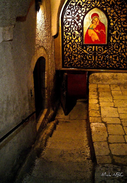 Entrance to Our Lady of Saidnaya Holy Orthodox Convent, Syria