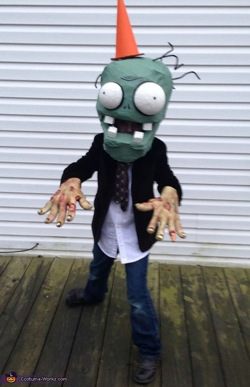 plants vs zombies conehead zombie 2013 halloween costume contest via costumeworks - Scary Diy Halloween Costumes