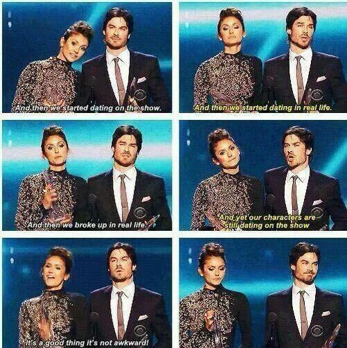Ian and nina's speech - delena won pca 2014 NIAN / DELENA. Thia speech was awkward haha