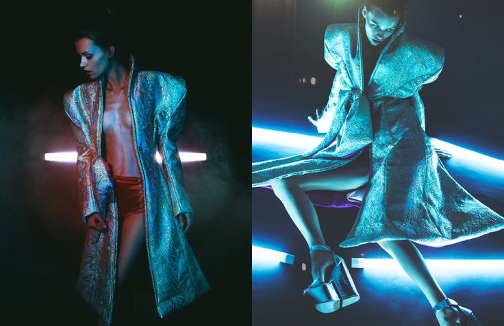 Photographer Brian Ziff combines fashion and nightlife in this Schön! online exclusive editorial. Model Erika Labanauskaite is dressed in Dior and Jeffrey Campbell to complete the steamy look.