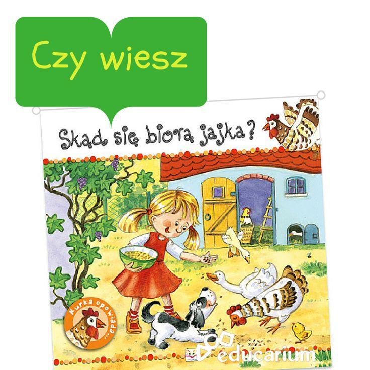 Miasto ma wiele wspaniałych plusów, lecz 70% małych dzieci miejskich na pytanie, skąd się biorą jajka, odpowie bez wahania, że ze sklepu. Często jednak wystarczy tylko wzbudzić ciekawość, by dziecko samo chciało się dowiedzieć reszty. Ta seria książeczek z pewnością jest warta uwagi przy takich zadaniach. http://sklep.educarium.pl/educarium.php?section=1&sub=szukaj&szukanafraza=800-543