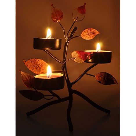 Duvar DLC 1076 Candle Led Canvas Tablo - 70x50 cm