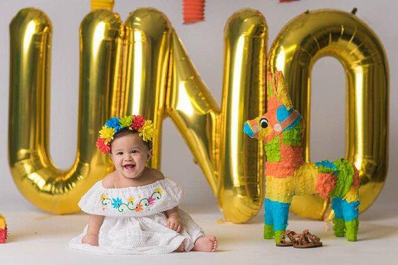 Fiesta Baby Dress Birthday Smash Cake Outfit Birthday Girl
