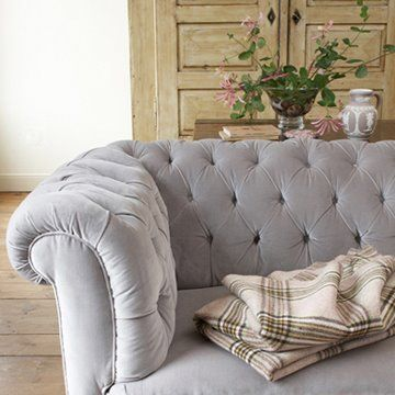 tufted grey chesterfield sofa