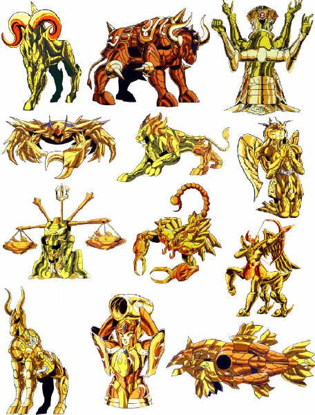 Armaduras de Los Caballeros del Zodíaco[Infografía]