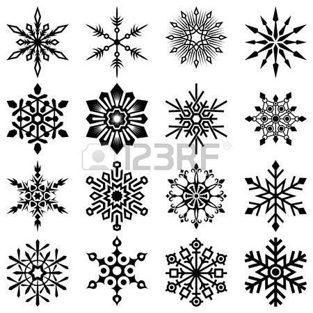 snowflake set Stock Vector