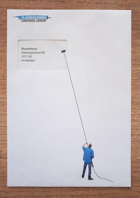 window cleaner envelopes by Henk Oortwijn.