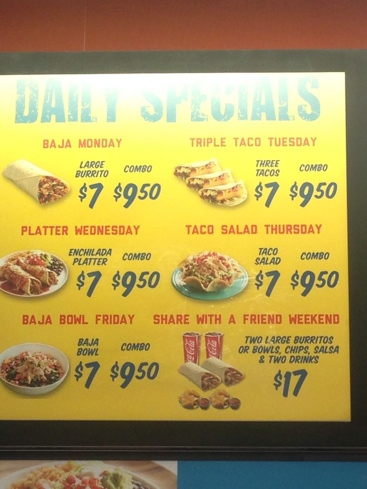 Taco Del Mar Daily Special Main Street Winnipeg Mb