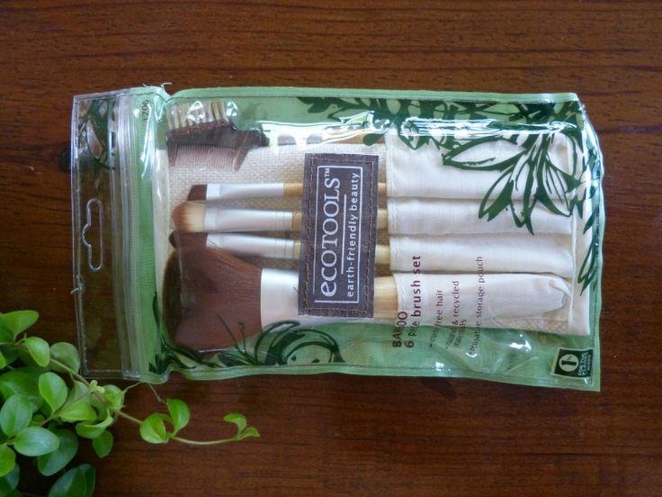 Ecotools Brush set milieuvriendelijke Kwasten bamboe opberghoesje vegan