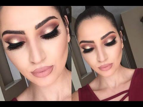 Thanksgiving Makeup Tutorial | Cranberry & Gold | - YouTube