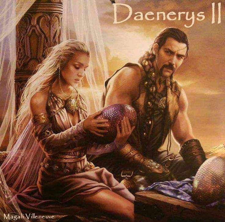 AGOT Daenerys II banner - Daenerys and Drogo's wedding by Magali Villeneuve