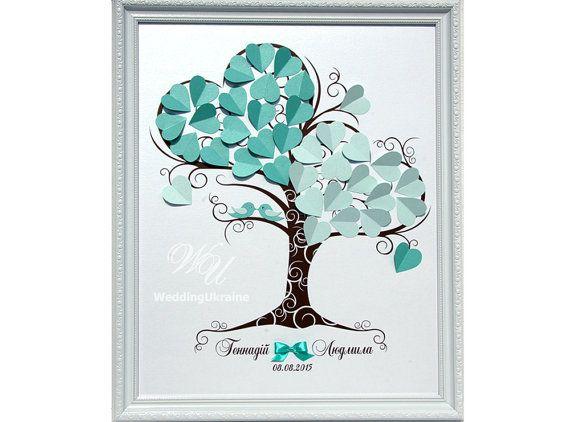Wedding Guest Book Ideas  Mint Wedding Tree  by WeddingUkraine