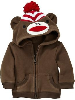 Fleece Critter Hoodie ~ Sock Monkey
