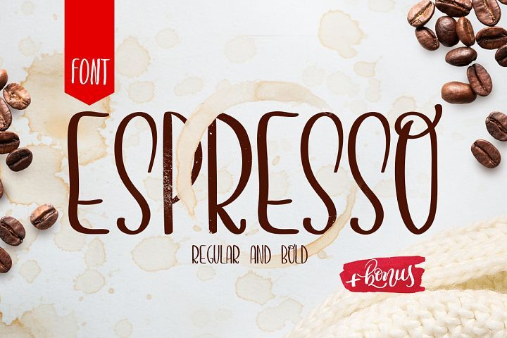 Espresso font  Just $4.00 for a limited time. #ad.