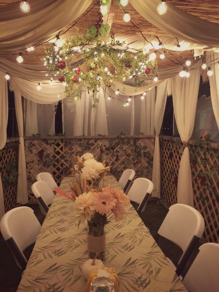 Night time Sukkah for Sukkot! Sukkot decorations, Feast