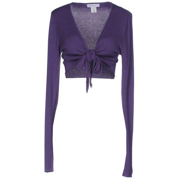 La Fretta... Di Loretta D. Wrap Cardigans ($37) ❤ liked on Polyvore featuring tops, cardigans, purple, long sleeve wrap top, long sleeve cardigan, white long sleeve cardigan, light weight cardigan and purple top