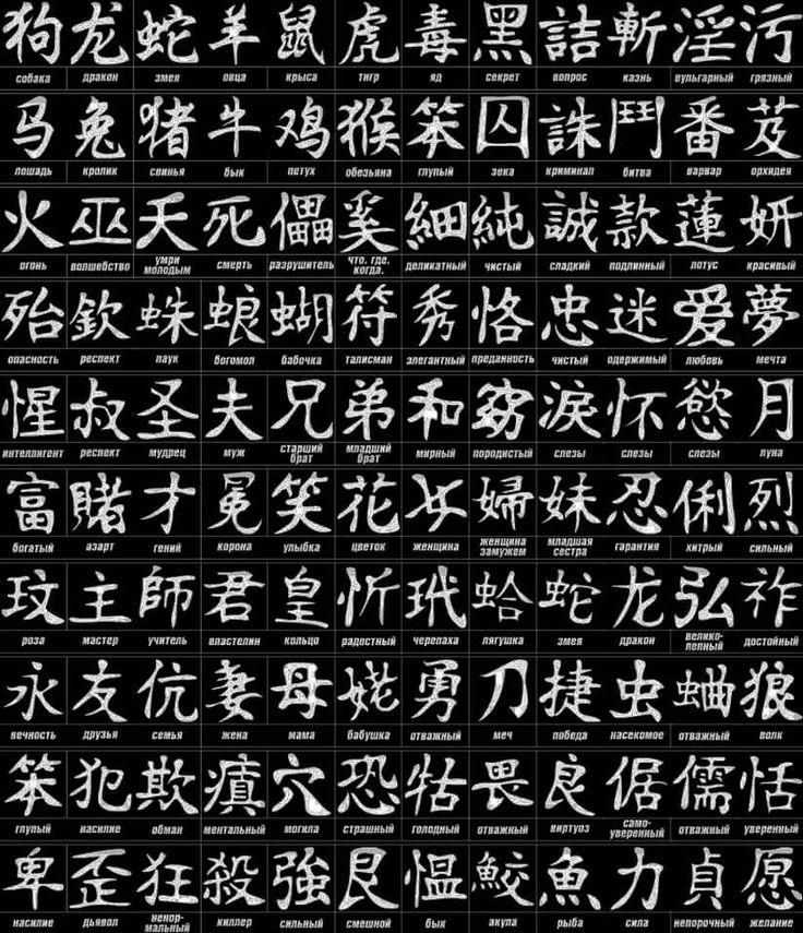 картинки с русского на китайские иероглифы просмотр