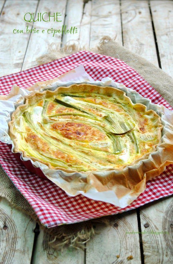 Pane, burro e alici: Quiche con Brie e cipollotti