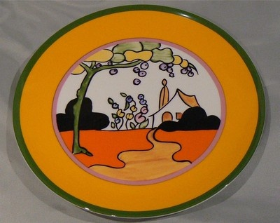 Wedgwood ed plate Tulip in 'The Bizarre Living Landscapes of Clarice Cliff'