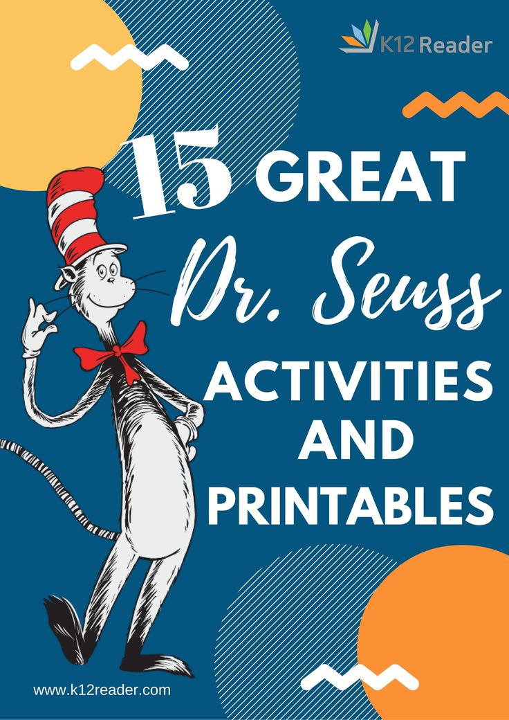 Here's a look at our favorite Dr. Seuss lesson plans, broken down by book and with links to all kinds of fun activities and printables. Click here! - repinned by @PediaStaff – Please Visit ht.ly/63sNt for all our pediatric therapy pins
