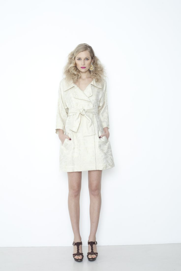 Marmont Trench - ivory/gold