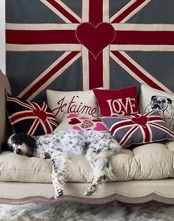 british, pop art, union jack, england, pillow, flag, decorating, settee, sofa