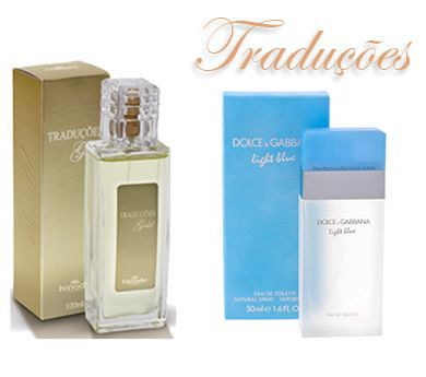 TRADUÇÕES GOLD 64 | *DOLCE & GABBANA LIGHT BLUE – 100ml  Tipo Floral Frutal com aroma suave.