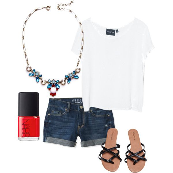 A fashion forward take on the patriotic day! Wear this on the 4th of July!!