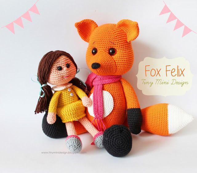 nice Amigurumi Tilki Felix-Amigurumi Fox Felix