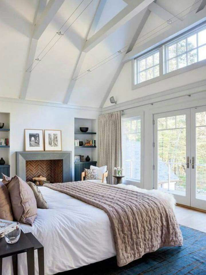 dream master bedroom%0A Master bedroom design with a neutral color palette featuring a vaulted  ceiling  farmhouse style  Bedroom Ideas  u     Decor