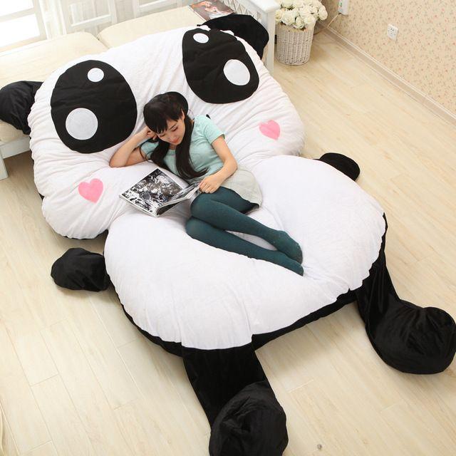 Grandes Animales de Peluche de Felpa de Dibujos Animados Panda Estilo Chino Decorativo Almohadas Decoran Cojín Grande Colchoneta Cama Niño Colchón
