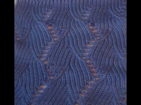 Ажурный узор машинного вязания №62 - YouTube