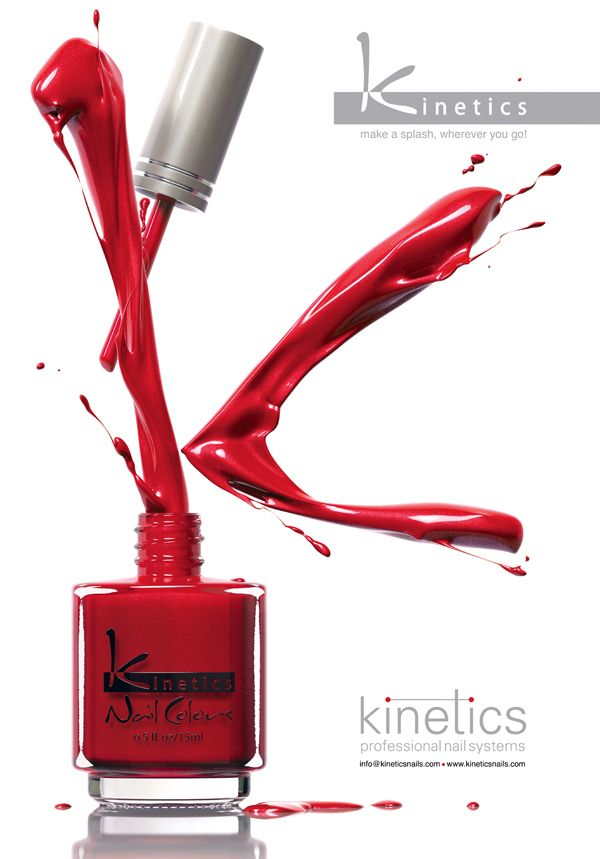 3D Kinetics Nail Polish Splash - Advertising Imagery on Behance