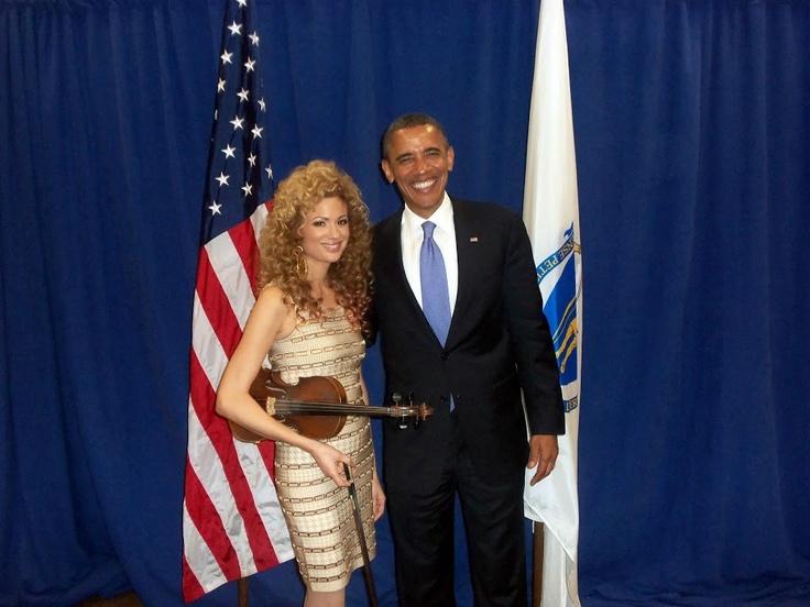 Miri Ben-Ari and President Barack Obama