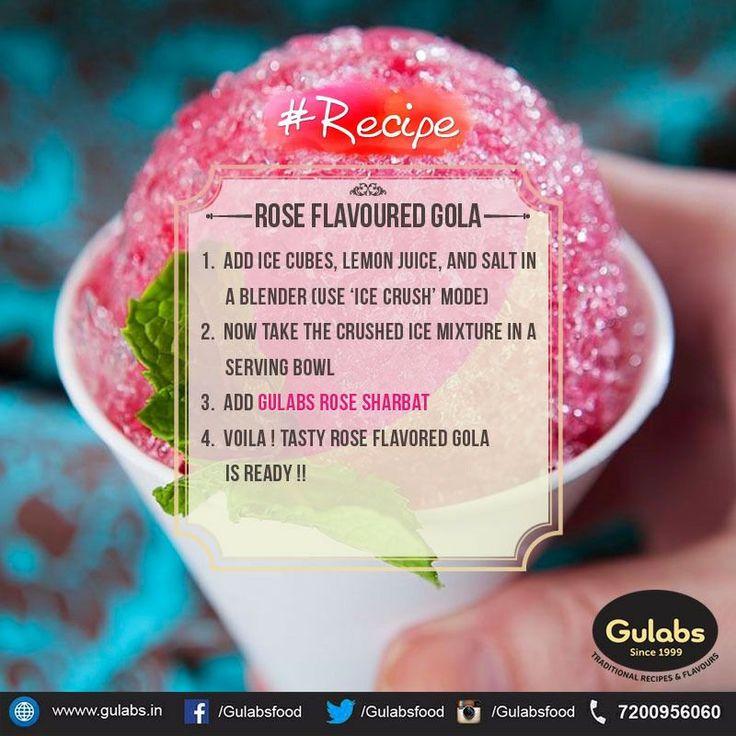 This will kick your summer blues! #Gola using #Gulabs #RoseSharbat !!
