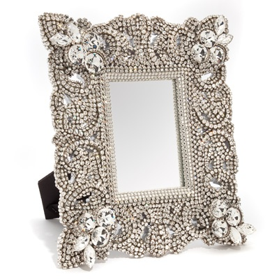 Best 100 mirrors images on pinterest decorated mirrors for Embellished mirror frame