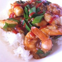 Szechwan Shrimp - Allrecipes.com  Added peppers and snow peas, doubled the recipe.  Ah-mazing.