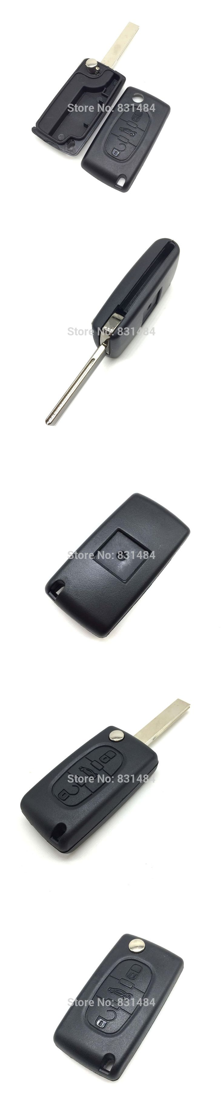 3 buttons flip key case shell with trunk button no battery place CE0523 for Citroen C2 C3 C4 C5 C6 XSARA PICASSO