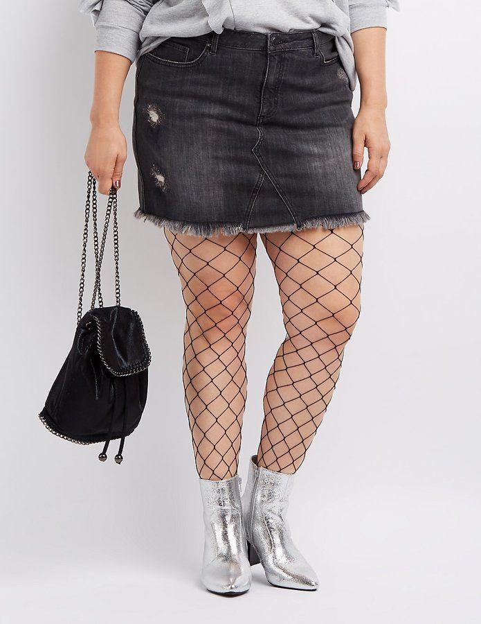 Charlotte Russe Plus Size Refuge Denim Mini Skirt